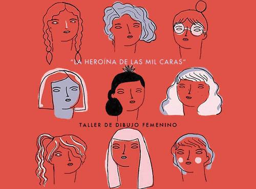 Taller de dibujo femenino: La heroína de las mil caras