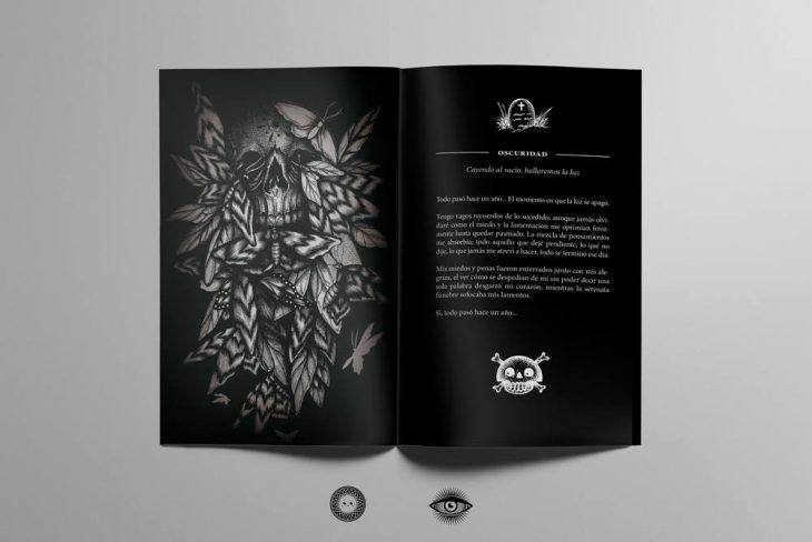 Dokkaso Muerte pequeña exposicion ilustracion arte oca guia