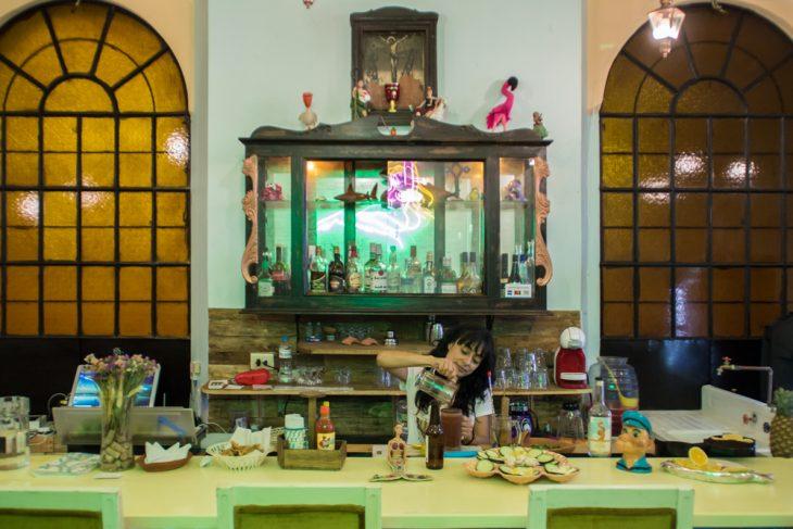 El ancla sirena centro puebla historico guia collhunter mexico donde ir bar local restaurante food mariscos marisquería