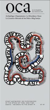 Sofia Clausse portada guia oca diciembre editorial tipografia diseño grafico design tipografia typo portada